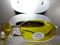 df0a03ff23 Mens or Women Day   Night RIDING SHOOTING DRIVING Yellow Lens SUN GLASSES  Silver