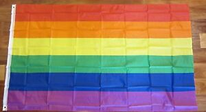 1 NEW RAINBOW FLAG 3' X 5'  GAY LESBIAN PRIDE BANNER LGBT PEACE FESTIVAL