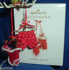 Hallmark Ornament A Holiday for Two 2006 Lingerie Boxers Love Fabric Metal NIB