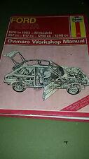HAYNES FORD FIESTA 1976 - 1983 OWNERS WORKSHOP REPAIR MANUAL