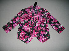 Casual Floral Regular Size Coats & Jackets for Women