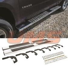 07-18 GMC Sierra Chevy Silverado Crew Cab Silver Side Step Bar Running Boards