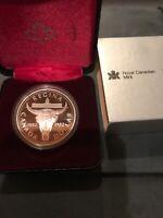 1982 Royal Canadian Mint City Of Regina Centennial .500 Silver Dollar Proof Coin