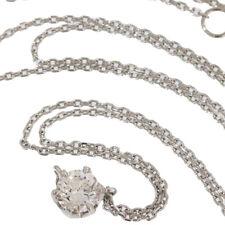 4℃ 0.305ct Solitaire Diamond Pendant Necklace in Platinum 850 w/Box,Cert D5032