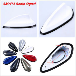 Car Shark Fin Style Roof Antenna Aerial FM AM Radio Signal Replacement Decor Kit