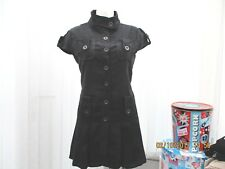 """jasmine"" sz 8  dark charcoal dress/ top with pockets short sleeves b.n.w.t"