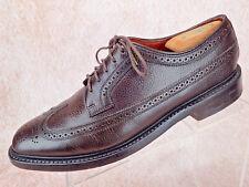 Florsheim Oxford Long Wing Tip Brogue Brown Blucher Duckie Brown Men Shoe Sz 9 D