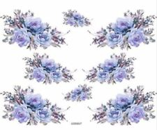 VinTaGe ImaGe BluE FloRaL SpRaYs ShaBbY WaTerSliDe DeCals TranSfeRs
