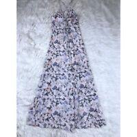Romeo & Juliet Couture Women's Size XS Maxi Dress Floral Spaghetti Strap Pink