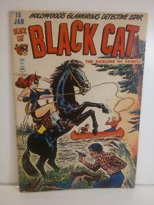 Black Cat Comics #15 Harvey  January 1949 Golden Age! See Photos