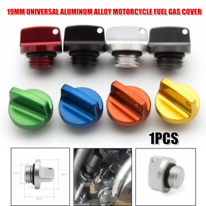 19mm CNC Multicolor Motorcycle ATV Fuel Gas Cover Tank Cap Engine Oil Cap Trims