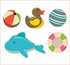 Shark Duck Ball Swim Kids Lovely Sticker Decal Funny Motorcycle Car Window Decor