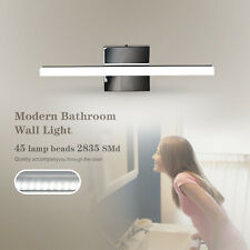 Stainless Steel Bathroom Vanity LED Light Front Mirror Toilet Wall Lamp Fixture