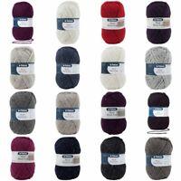Patons Wool Blend Aran Yarn Craft Wool Knitting Crochet 100g Ball