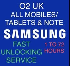 """SAMSUNG S10,S9,S8,S7 & """"ALL NOTE-MODELS"""". & Tablets  O2 Uk Unlocking Service"""