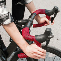Silicone Road Bicycle Cork Handlebar Grip Wrap Tape with 2pcs Bar Plugs Flowery