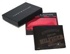 Men's Tommy Hilfiger Textured Leather Lite Brown Tan Pocket Wallet Cards Pocket
