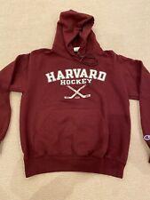 Champion Harvard Hockey Hoodie Sweatshirt Mens Small