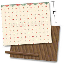 "1/4"" Scale Dollhouse Wallpaper - 1932 Vintage Dainty Gingham 2 - 1:48 quarter"