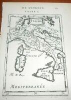 1683 A.M.MALLET INCISIONE SU RAME CARTA GEOGRAFICA DELL'ITALIA
