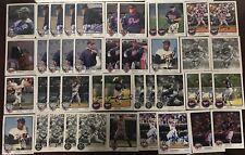 Lot of 43 Minnesota Twins Team Issued SIGNED 3x5 Photos Blyleven Koskie AJ Jones