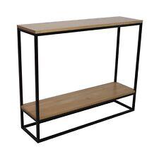 Design Sideboard SKINNY OAK WITH SHELF Vetrostyle console steel solid wood