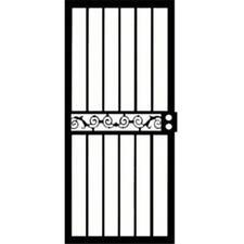 """Steel Security Storm Door 30""""x80"""" Grisham 421 Series Tipton Black Dd421 d37 New"""