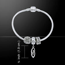 Celtic Knots .925 Sterling Silver Bead Bracelet by Peter Stone
