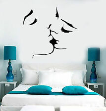 Vinyl Wall Decal Kissing Couple Love Romantic Bedroom Stickers (ig3715)