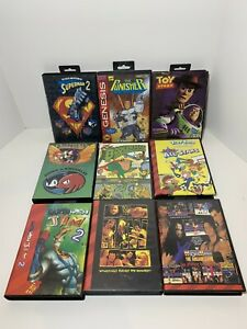 Sega Genesis Games Lot Sonic Superman 2 The Flintstones The Punisher Toy Story