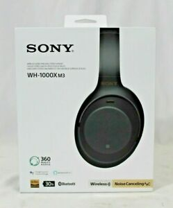 NEW Sony WH-1000XM3 Wireless Noise-Canceling Over-Ear Headphones Black