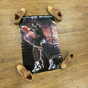 """Nos Vtg 90s Shaquille O'Neil Shaq Poster 23"""" X 35"""" Costaco Magic 1992 Rookie Ysa"""