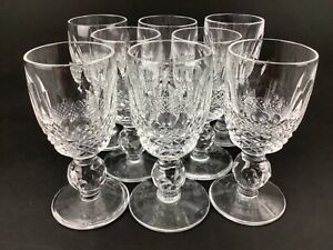 """Waterford Colleen Set of EIGHT (8) 3 1/8"""" Cordial Glasses"""