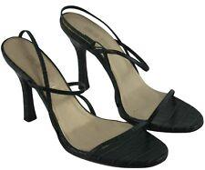Colin Stuart Womens Ladies Green Reptile Print Strappy Stiletto Heels Size 8.5