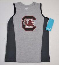 NCAA SOUTH CAROLINA GAMECOCKS Boys 4-7 Fan Gear Tank Top T-Shirt L (7) NEW