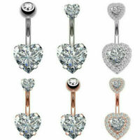 Belly Button Dangle Ring Crystal Jewelry Barbell Navel Ball Bar Body Piercing