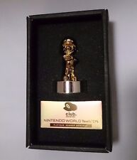 Club Nintendo Super Mario Gold Statue figure Platinum Member Memorial From Japan