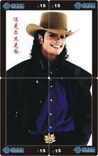 Michael Jackson 4 telefoonkaarten/télécartes  (MJ60-77 4p)
