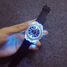 Fashion Women Wrist Watch Sport Waterproof Geneva LED Backlight Crystal Quartz
