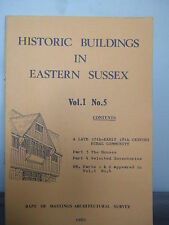 Historic Buildings in Eastern Sussex - Vol I - No. 5 - 1980 - Illustrated