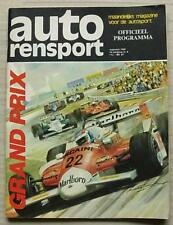 DUTCH GRAND PRIX FORMULA ONE F1 1980 ZANDVOORT Motor Sport Official Programme