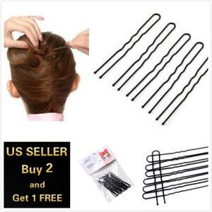 16 - 20pcs U-shaped Black Bun Hair Pin Clip Grips Wavy Salon Hairpin