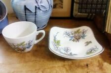 Ironstone Mid-Century Modern Pottery Cups & Saucers