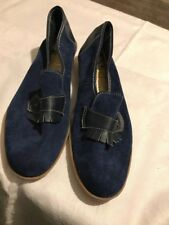 Blue Suede K Skips Made In UK Size 7 by K Shoes
