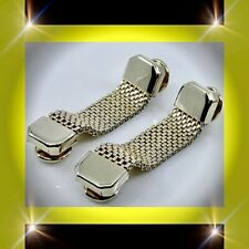 Mesh Wraparound Beautiful Eloquent Cufflinks ������Vintage Retro Kiss Lock All