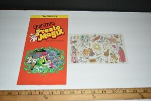 Presto Magix 1982 Rub-down Transfers Nativity Christmas Scene