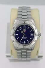 Tag Heuer 2000 Series Classic Professional WK1113 Watch Men BLUE Mint Crystal