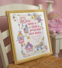 """Princess Birth Record Counted Cross Stitch Kit 10""""X13"""" 14 Count 046109453286"""