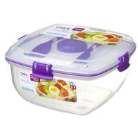 Sistema To Go Chill It 1.63L Salad Lunch Box Container with Ice Block & Cutlery