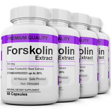 4 Maximum Strength 100% Pure Forskolin 800mg Rapid Results! Forskolin Extract